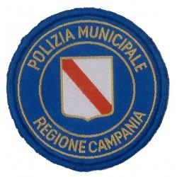 Sicur.an Scudetto circolare regione campania in alta definizione di colore blu polizia municipale