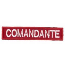 Sicur.an Patch ricamato scritta comandante personalizzabile